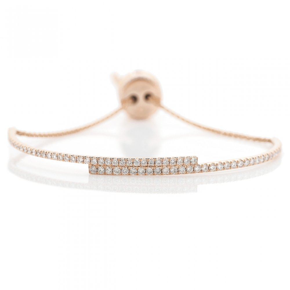 Minimalist Pull Tie Bracelet with Diamond