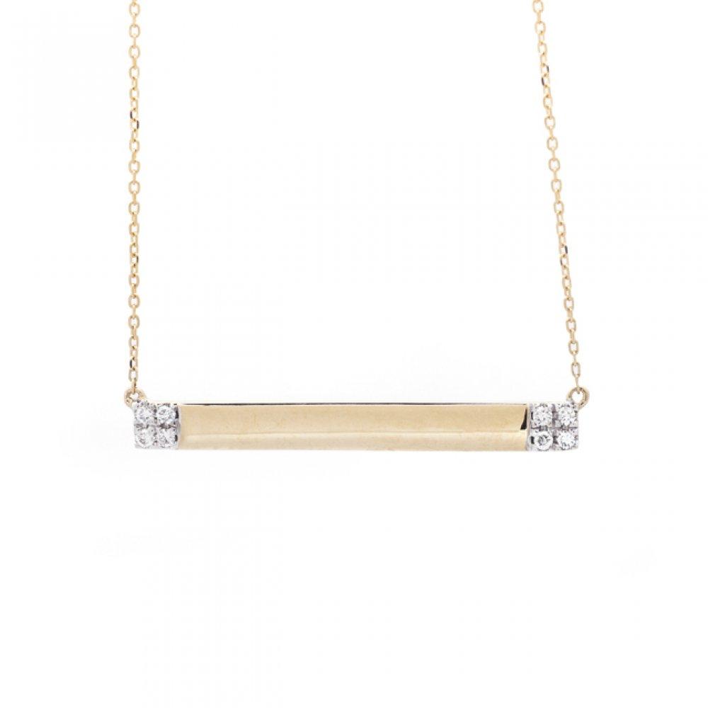 Cluster Bar Diamond Necklace