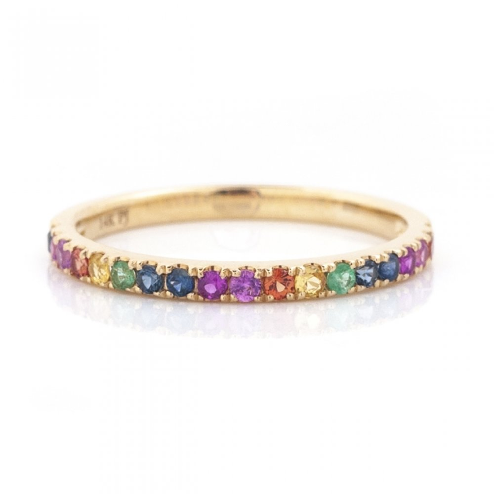 Rainbow Color Stone Band