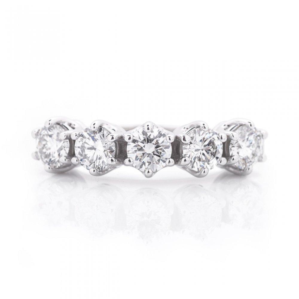 5-Stone Diamond Wedding Ring