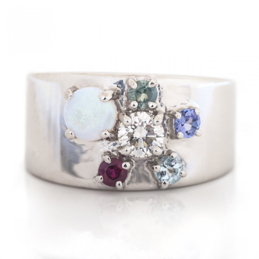 Six-Stone Birthstone Ring