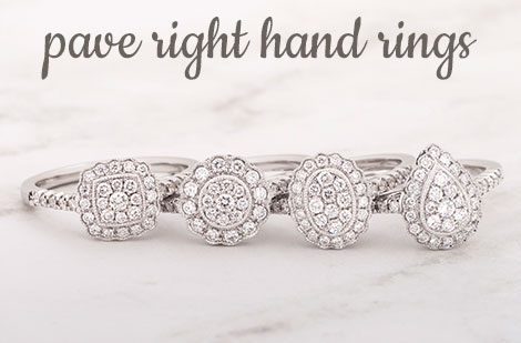 Pave Right Hand Rings